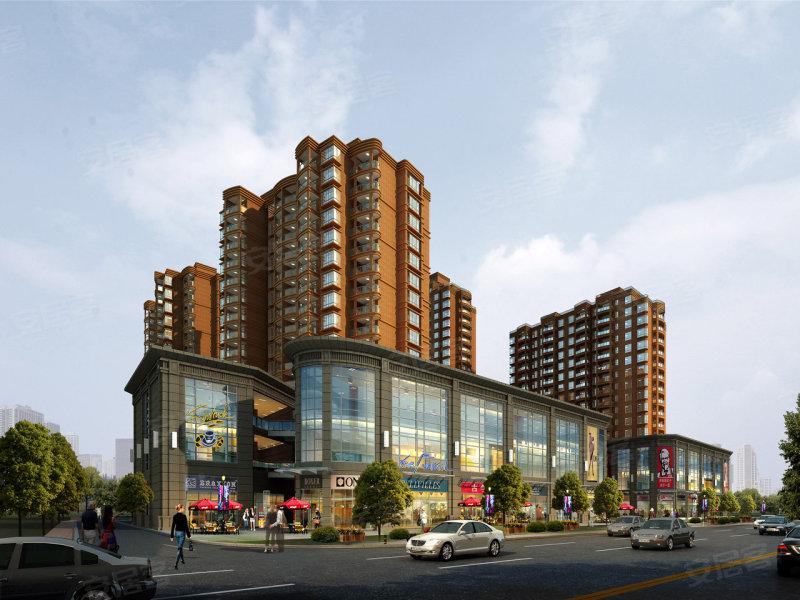 公寓和沿街商铺效果图