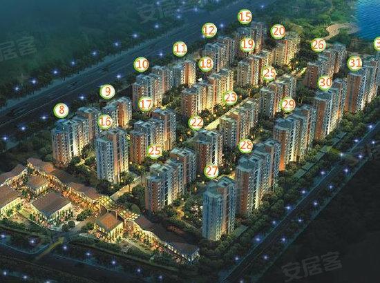 置地青湖语城规划图 高清图片