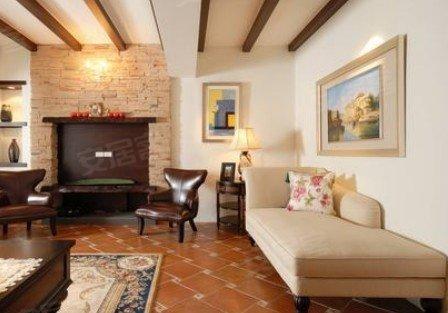 仿古瓷砖拼花打造地面效果,用色彩斑斓的仿古墙砖打造卫浴间