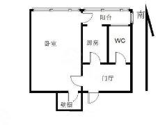 小黄庄朝南精装一居室,可长租可短租,楼下就是123公交车站