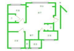 赛罕区巨海城二区步梯四楼包暖包物业三居室采光好