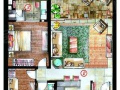 半山半岛六期 9000元 2室1厅2卫 豪华装修,家具电器齐