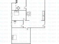 帝王宫悦海小区98平三室中装干净低楼层配置全