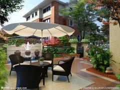 万城华府精装一层带花园 复式户型,南北200平花园 首次出租