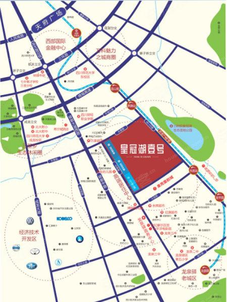 成都皇冠湖壹号 交通图 35 成都58安居客 -皇冠湖壹号高清图片