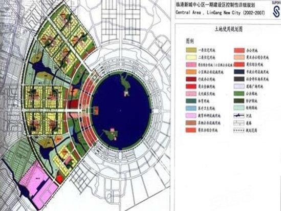 临港新城规划图高清图片